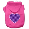 Mirage Pet Products Purple Swiss Dot Heart Screen Print Pet Hoodies Bright Pink Size Sm (10)