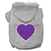Mirage Pet Products Purple Swiss Dot Heart Screen Print Pet Hoodies Grey Size XXXL (20)