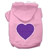 Mirage Pet Products Purple Swiss Dot Heart Screen Print Pet Hoodies Light Pink Size Sm (10)