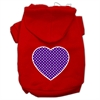 Mirage Pet Products Purple Swiss Dot Heart Screen Print Pet Hoodies Red Size XL (16)