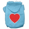 Mirage Pet Products Red Swiss Dot Heart Screen Print Pet Hoodies Baby Blue Size Sm (10)