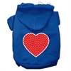 Mirage Pet Products Red Swiss Dot Heart Screen Print Pet Hoodies Blue Size Sm (10)
