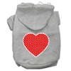 Mirage Pet Products Red Swiss Dot Heart Screen Print Pet Hoodies Grey Size XL (16)