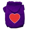 Mirage Pet Products Red Swiss Dot Heart Screen Print Pet Hoodies Purple Size Sm (10)