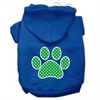Mirage Pet Products Green Swiss Dot Paw Screen Print Pet Hoodies Blue Size XL (16)