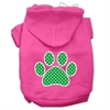Mirage Pet Products Green Swiss Dot Paw Screen Print Pet Hoodies Bright Pink Size XXXL (20)
