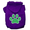 Mirage Pet Products Green Swiss Dot Paw Screen Print Pet Hoodies Purple Size Sm (10)