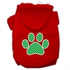 Mirage Pet Products Green Swiss Dot Paw Screen Print Pet Hoodies Red Size XS (8)