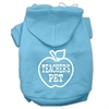 Mirage Pet Products Teachers Pet Screen Print Pet Hoodies Baby Blue Size XS (8)