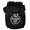 Mirage Pet Products Teachers Pet Screen Print Pet Hoodies Black Size XS (8)