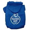 Mirage Pet Products Teachers Pet Screen Print Pet Hoodies Blue Size S (10)