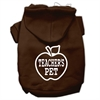 Mirage Pet Products Teachers Pet Screen Print Pet Hoodies Brown Size XS (8)