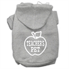 Mirage Pet Products Teachers Pet Screen Print Pet Hoodies Grey Size XL (16)