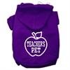 Mirage Pet Products Teachers Pet Screen Print Pet Hoodies Purple Size S (10)