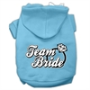 Mirage Pet Products Team Bride Screen Print Pet Hoodies Baby Blue Size XS (8)