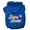 Mirage Pet Products Team Bride Screen Print Pet Hoodies Blue Size XS (8)