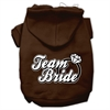Mirage Pet Products Team Bride Screen Print Pet Hoodies Brown Size Sm (10)