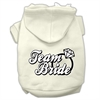Mirage Pet Products Team Bride Screen Print Pet Hoodies Cream Size Med (12)
