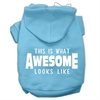 Mirage Pet Products This is What Awesome Looks Like Dog Pet Hoodies Baby Blue Size Med (12)