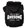 Mirage Pet Products This is What Awesome Looks Like Dog Pet Hoodies Black Size Lg (14)