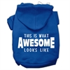 Mirage Pet Products This is What Awesome Looks Like Dog Pet Hoodies Blue Size XL (16)