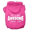 Mirage Pet Products This is What Awesome Looks Like Dog Pet Hoodies Bright Pink Size XS (8)