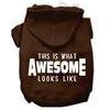 Mirage Pet Products This is What Awesome Looks Like Dog Pet Hoodies Brown Size Sm (10)
