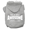 Mirage Pet Products This is What Awesome Looks Like Dog Pet Hoodies Grey Size XL (16)