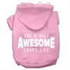 Mirage Pet Products This is What Awesome Looks Like Dog Pet Hoodies Light Pink Size XS (8)