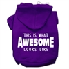 Mirage Pet Products This is What Awesome Looks Like Dog Pet Hoodies Purple Size Sm (10)