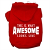Mirage Pet Products This is What Awesome Looks Like Dog Pet Hoodies Red Size XXL (18)