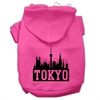 Mirage Pet Products Tokyo Skyline Screen Print Pet Hoodies Bright Pink Size XS (8)