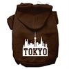 Mirage Pet Products Tokyo Skyline Screen Print Pet Hoodies Brown Size Sm (10)
