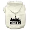 Mirage Pet Products Tokyo Skyline Screen Print Pet Hoodies Cream Size Sm (10)
