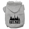 Mirage Pet Products Tokyo Skyline Screen Print Pet Hoodies Grey Size XXXL (20)