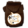 Mirage Pet Products Too Cute to Spook Screenprint Hoodie Brown S (10)