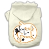 Mirage Pet Products Too Cute to Spook Screenprint Hoodie Cream XS (8)