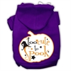 Mirage Pet Products Too Cute to Spook Screenprint Hoodie Purple XL (16)