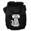 Mirage Pet Products Trapped Screen Print Pet Hoodies Black Size XXL (18)