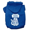 Mirage Pet Products Trapped Screen Print Pet Hoodies Blue Size Sm (10)