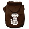 Mirage Pet Products Trapped Screen Print Pet Hoodies Brown Size XXL (18)