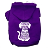 Mirage Pet Products Trapped Screen Print Pet Hoodies Purple Size Sm (10)