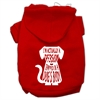 Mirage Pet Products Trapped Screen Print Pet Hoodies Red Size Med (12)
