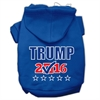 Mirage Pet Products Trump Checkbox Election Screenprint Pet Hoodies Blue Size S (10)