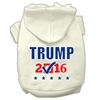 Mirage Pet Products Trump Checkbox Election Screenprint Pet Hoodies Cream Size S (10)