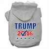 Mirage Pet Products Trump Checkbox Election Screenprint Pet Hoodies Grey Size XL (16)