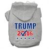 Mirage Pet Products Trump Checkbox Election Screenprint Pet Hoodies Grey Size XXXL(20)