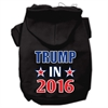 Mirage Pet Products Trump in 2016 Election Screenprint Pet Hoodies Black Size XL (16)