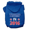 Mirage Pet Products Trump in 2016 Election Screenprint Pet Hoodies Blue Size XXXL(20)