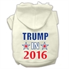 Mirage Pet Products Trump in 2016 Election Screenprint Pet Hoodies Cream Size XXXL(20)